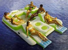 New Giant 6 Person Inflatable Lake Raft Pool Float Ocean Floating Island Huge