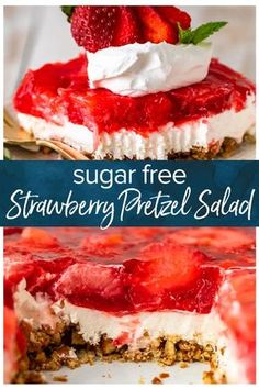 Strawberry Pretzel Salad is an absolute should make through the holidays, particularly when you can also make it SUGAR FREE however simply as scrumptious as the normal model! This Sugar Free Strawberry Pretzel Salad Sugar Free Deserts, Low Sugar Desserts, Sugar Free Recipes, Easy Desserts, Desserts For Diabetics, Sugar Free Sweets, Sugar Free Trifle Recipe, Low Sugar Meals, Diabetic Desserts Sugar Free Low Carb