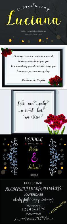Luciana script. Fonts. $10.00