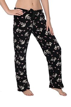 L Pink Dot print Fleece Lounge Pajama Pants sleep plush pajamas Super soft