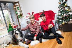 Suga (Yoongi) & Jin (Seokjin) of BTS : Christmas Special 🎄🎁 Seokjin, Namjoon, Vlive Bts, Bts Bangtan Boy, Yoongi Bts, Taehyung, Jung Hoseok, K Pop, Bts Christmas