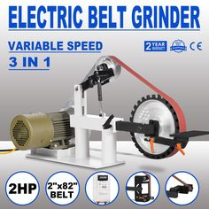 2 x 82 belt grinder, knife making, knife grinder, sander 1.5KW | Home & Garden, Tools, Power Tools | eBay!