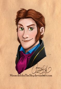 Hans Portrait by MoonchildinTheSky on deviantART | Disney's Frozen | Walt Disney Animation Studios