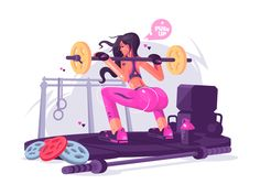 Fitness girl by Anton Fritsler (kit8) #Design Popular #Dribbble #shots