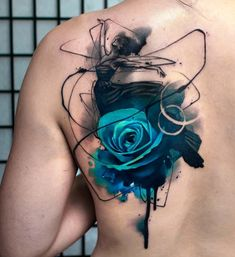 Watercolor rose tattoo blue rose tattoos, tattoos of roses, black tattoos. Badass Tattoos, Cute Tattoos, Beautiful Tattoos, Body Art Tattoos, Sleeve Tattoos, Tatoos, Tattoo Ink, Blue Rose Tattoos, Flower Tattoos