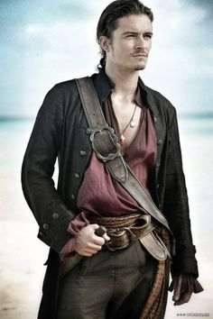 Orlando Bloom as Will Turner from Pirates of the Carribean.