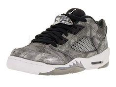 340c3002824d Nike Jordan Kids Air Jordan 5 Retro Prem Low GG Cool GreyWolf  GreyWhiteBlack Basketball Shoe 65