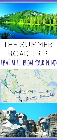 The Summer Road Trip that Will Blow your Mind The Summer Road Trip of a Lifetime. Across 11 US states and 1 Canadian province. Hiking through 11 national parks, this is road trip will blow your mind! Us Road Trip, Family Road Trips, Road Trip Hacks, Family Vacations, Family Travel, Summer Road Trips, Summer Travel, Road Trip Outfit, Disney Vacations