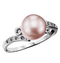 "Sterling Silver Pink Freshwater Pearl Ring with CZ Accents - Genuine freshwater pearls with CZ accents.  *Since pearls are natural, shades may vary slightly. STERLING SILVER is the standard for fine silver jewelry in the world over. Only Sterling Silver can be stamped with a ""fineness mark"" of .925 indicating its high quality. Regularly $49.99, buy Avon jewelry online at http://eseagren.avonrepresentative.com"