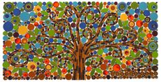 Tree of Life Mosaic, Isaiah 61 Lettertiles - Mercury Mosaics