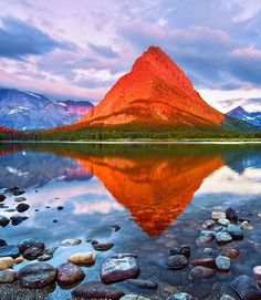 If you hike to this mountain peak, at just the right moment in the morning, it burns bright orange.  It's almost unbelievable!