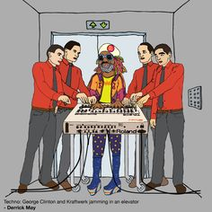 derrick may's definition of techno (kraftwerk & george clinton in an elevator)