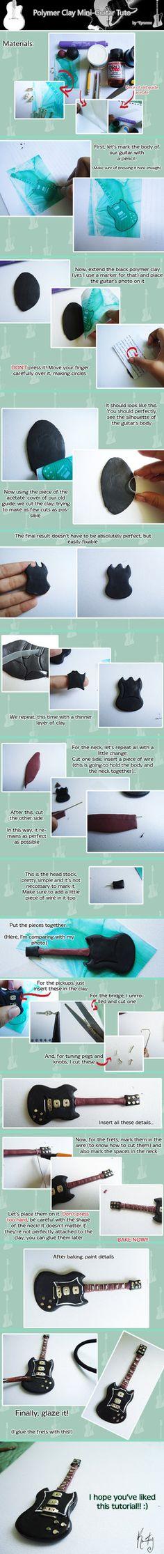 Polymer Clay Miniature Guitar Tutorial