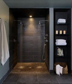 Modern dual-head shower