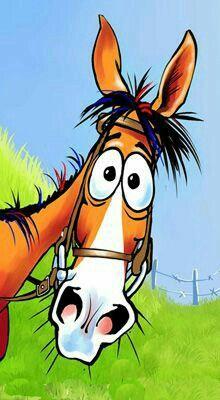 Fergus the Horse - Ricky & kelly Lance painting cartoon Cartoon Kunst, Cartoon Drawings, Cartoon Art, Cute Drawings, Horse Cartoon Drawing, Horse Drawings, Animal Drawings, Photo Rock, Horse Art