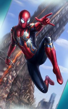 Iron Spider, Peter Parker, Spider Man, Infinity War, donut of doom
