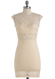 A Toast to You Dress - Cream, Lace, Wedding, Party, Sleeveless, Summer, Short, Cutout, Bodycon / Bandage