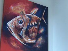 """Painting, Pool bath, 39 1/2"""" x 39 1/2"""""""
