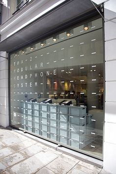 The lisbonaire signage Retail Signage, Retail Facade, Wayfinding Signage, Office Graphics, Window Graphics, Window Design, Wall Design, Glass Signage, Signage Display