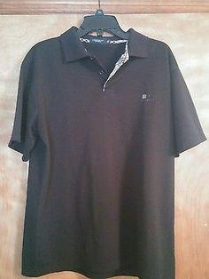XL Burberry London Black Polo Shirt 100% Cotton