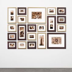 I like the mix of the two colors of frames  Need More Wall Art Ideas? Visit Centophobe.com (Never an Empty Room)