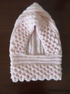 Toddler Precious Pink Crocodile Stitch Hood B66 via Etsy