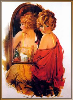 "Rolf Armstrong - ""Am I Pretty?"" - Rolf Armstrong, - was one of the best magazine cover illustrators of the first half of the century - DD Rolf Armstrong, Vintage Artwork, Vintage Images, Vintage Posters, Retro Posters, Pinup Art, Cool Magazine, Vintage Girls, Up Girl"
