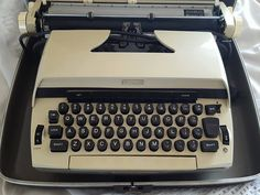 Vintage Beige Sears Celebrity 12 Electric Typewriter In Black Carrying Case by…