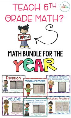 This grade math bundle is perfect for the classroom! It includes lessons, worksheets, centers, games, and more! The math bundle includes everything you will need to teach the Common Core math standards. Teaching Numbers, Teaching Math, Teaching Ideas, I Love Math, Fun Math, First Grade Lessons, Math Lessons, Fifth Grade Math, Fourth Grade