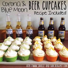 Wild Blue Yonder: Corona & Blue Moon Beer Cupcakes
