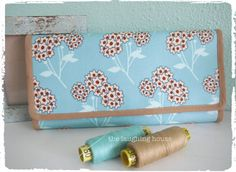 Cash Budgeting Purse Tokens of Love in Aqua by thelaughinghouse, $30.99