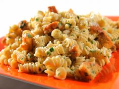 "Caesar Pasta Salad from FoodNetwork.com. Great recipe... makes the perfect ""office lunch"" if you add chicken! :9"
