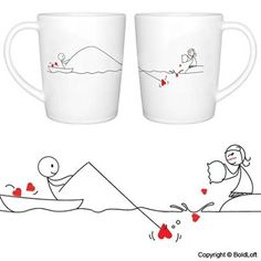 """BOLDLOFT """"Catch My Heart"""" His and Hers Coffee Mugs-Long Distance Relationships Gifts for Him for Her,Long Distance Coffee Mugs,Long Distance Couples Gifts,Girlfriend Boyfriend Gifts Wedding Gifts For Bride And Groom, Gifts For Fiance, Bride Gifts, Gifts For Him, Couples Coffee Mugs, Couple Mugs, Couple Gifts, Boyfriend Anniversary Gifts, Boyfriend Gifts"""