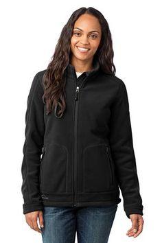 Eddie Bauer - Ladies Wind Resistant Full-Zip Fleece Jacket Style EB231 Black from SweatShirtStation.com, on sale now for $67.98 #fleece #womensclothing #eddiebauer