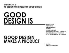 Dieter Ram´s: 10 design principles for good design