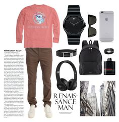 """""""Pewdiepie style"""" by haujo ❤ liked on Polyvore featuring Shipley & Halmos, Southern Proper, Movado, Burberry, Yves Saint Laurent, Native Union, MANGO MAN, Beats by Dr. Dre, Blue Nile and Prada"""