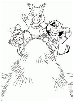 Fargelegging Jakers! Piggley Blink Aventurile Ham. Tegninger 27