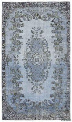 K0013086 Over-dyed Turkish Vintage Rug | Kilim Rugs, Overdyed Vintage Rugs, Hand-made Turkish Rugs, Patchwork Carpets by Kilim.com