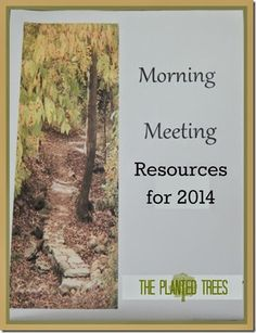 Morning Meeting Resources for 2014: A breakdown of how and what we're using during our Morning Meeting time.
