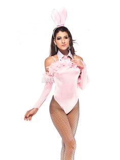 2012 New Cute Pink Rabbit Four Piece Costumes  38.99
