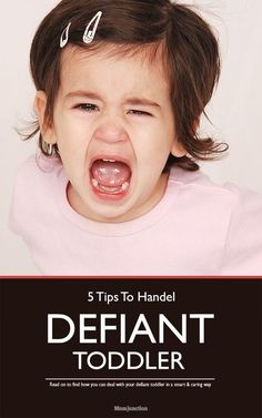#Parenting : Is your toddler being defiant and throwing those temper tantrums?We list you 5 effective ways on how to deal with a defiant toddler. Read on to know more...