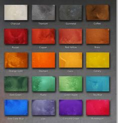 Stained Polished Concrete Color Chart Epoxy Floor Color Chart The color chart below represents our m Dining Room Sets, Epoxy Floor Basement, Beton Diy, Concrete Color, Best Flooring, Flooring Options, Stained Concrete, Epoxy Concrete, Home Decor