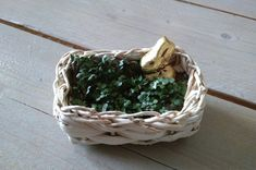 Osternest aus Sprossen Wicker Baskets, Terrarium, Home Decor, Sprouts, Easter Activities, Terrariums, Homemade Home Decor, Interior Design, Home Interiors