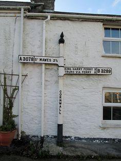 St Just in Roseland Finger Post (full) St Just, Truro, Cornwall, Ladder Decor, Finger, Fingers, Sleeve, Toe