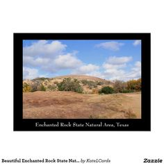 Beautiful Enchanted Rock State Natural Area Poster
