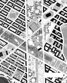 Runways to Greenways Decommissioned Airport Vatnsmyri Masterplan Design Competition -- Love the B&W, could never pull it off, though.