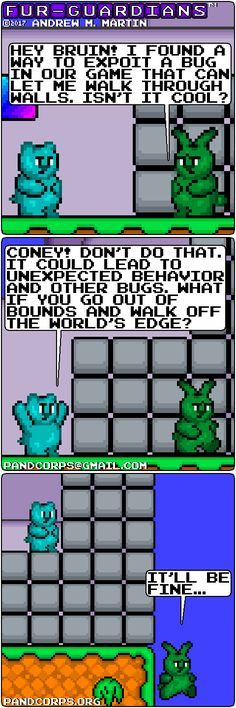 Coney exploits a bug. Comic Strips, Fur, Let It Be, Comic Books, Furs, Feather, Fur Coat, Fur Goods