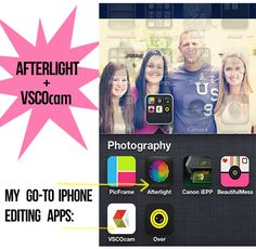 Photography Tip: Photo Editing Apps