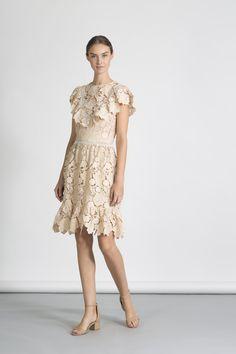 c84566f7c2886 Floral Cut-out Lace Leon Dress