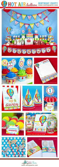 Hot Air Balloon BIRTHDAY Party Printable Package & Invitation, INSTANT DOWNLOAD, You Edit Yourself with Adobe Reader #babyshowerideas4u #birthdayparty  #babyshowerdecorations  #bridalshower  #bridalshowerideas #babyshowergames #bridalshowergame  #bridalshowerfavors  #bridalshowercakes  #babyshowerfavors  #babyshowercakes